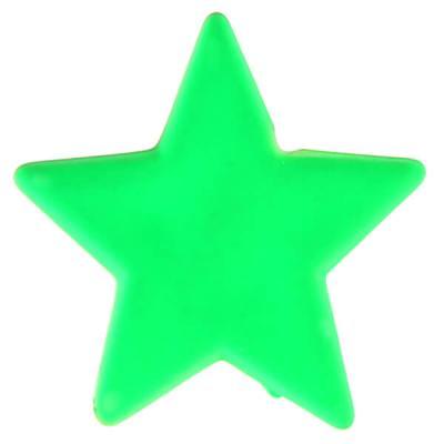 Perle étoile verte (x12) REF/4357