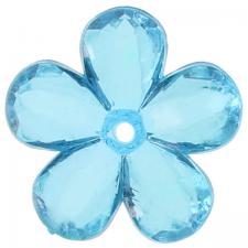 Perle fleur bleu turquoise (x10) REF/4400