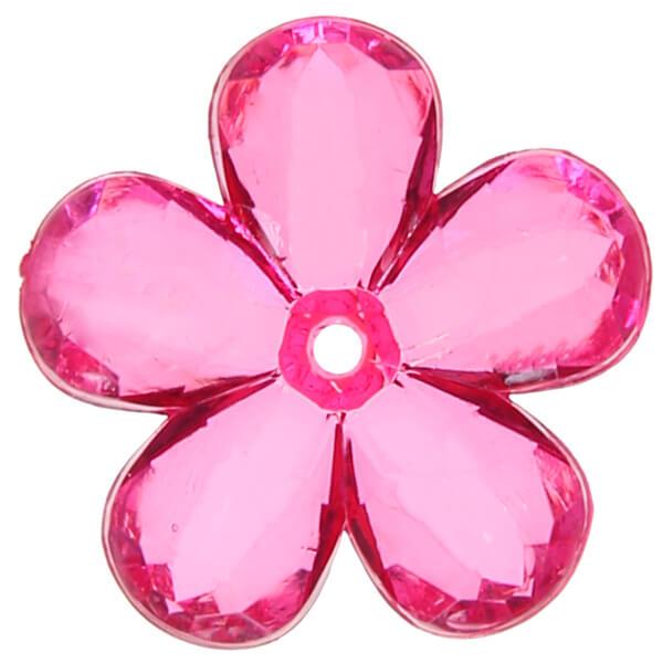Perle fleur fuchsia