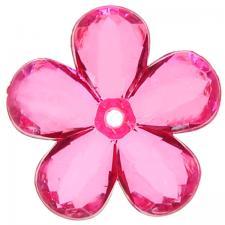 Perle fleur fuchsia (x10) REF/4400