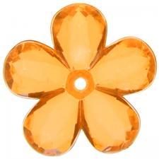 Perle fleur orange (x10) REF/4400