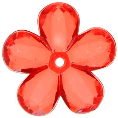 Perle fleur rouge (x10) REF/4400