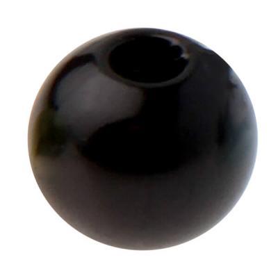 Perle noire avec perforation (x50) REF/3923