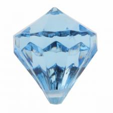Perle pampille diamant bleu turquoise (x6) REF/3852
