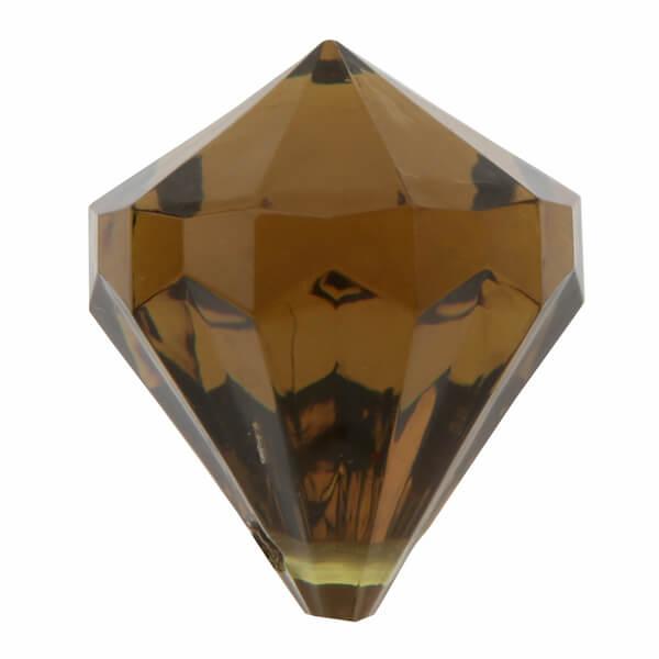 Perle pampille diamant chocolat