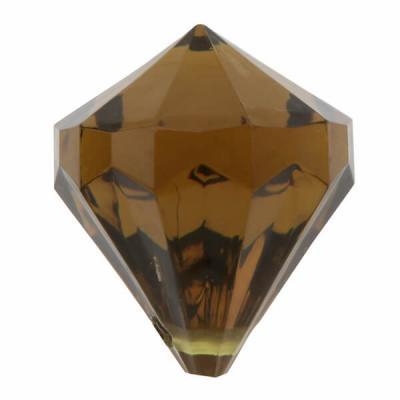Perle pampille diamant chocolat (x6) REF/3852