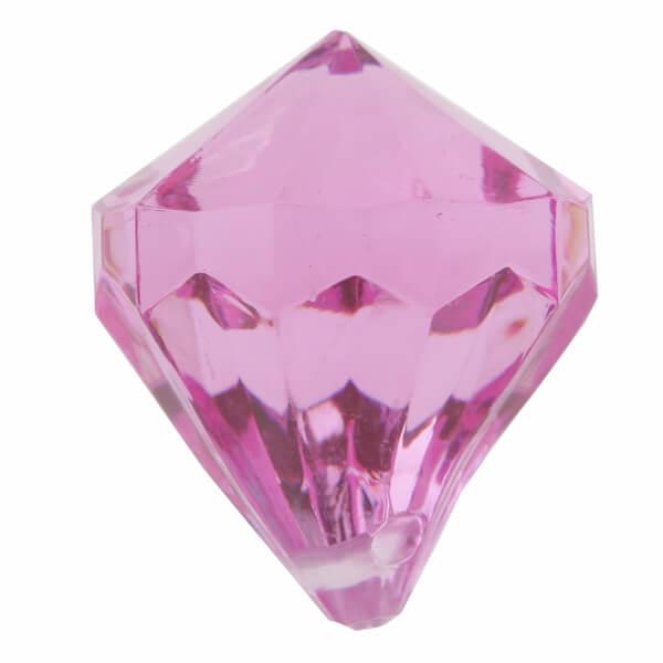 Perle pampille diamant fuchsia