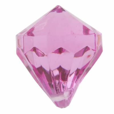 Perle pampille diamant fuchsia (x6) REF/3852