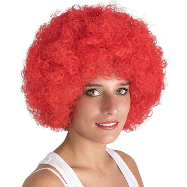 Perruque afro willy rouge pour fete