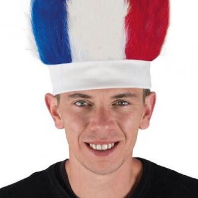 Perruque bandeau tricolore France (x1) REF/20056