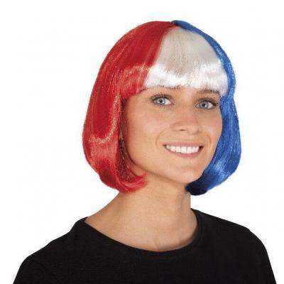 Perruque cabaret tricolore France (x1) REF/68080