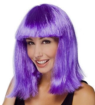 Perruque carre violet star