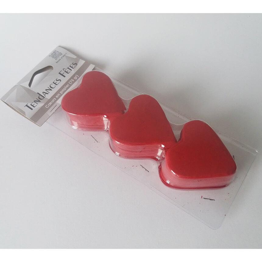 Petale coeur mariage rouge pour mairie et eglise