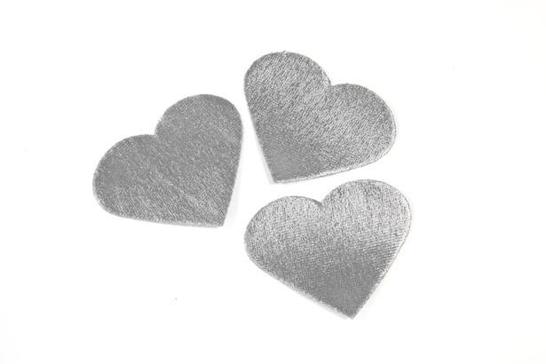 Petale de coeur metallique argent