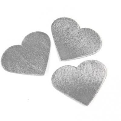 Pétale de coeur métallique argent (x24) REF/DEC795