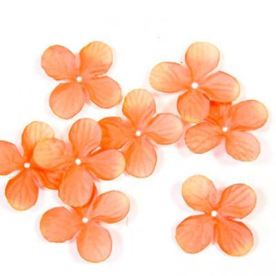 Pétale de fleur orange (x24) REF/DEC800
