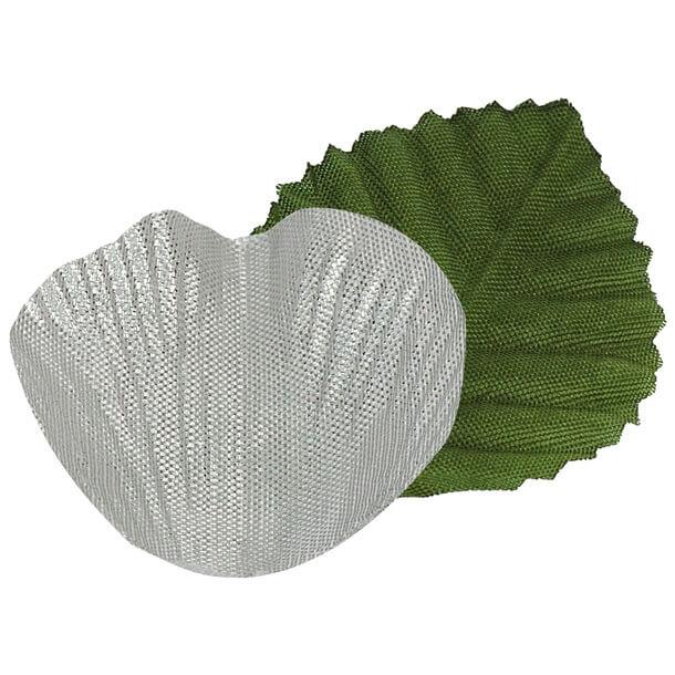 Petale de rose argent en tissu