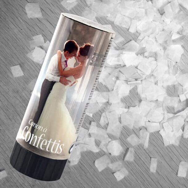 Petit canon a confettis mariage