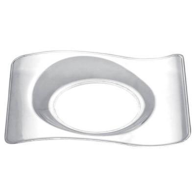 Verrine: Petite assiette transparente design (x50) REF/56018