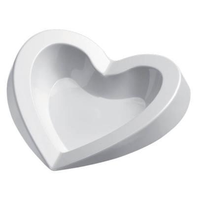 Petite assiette mariage coeur blanche 15ml (x50) REF/56038