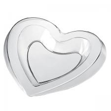 Petite assiette mariage coeur transparente 15ml (x50) REF/56038