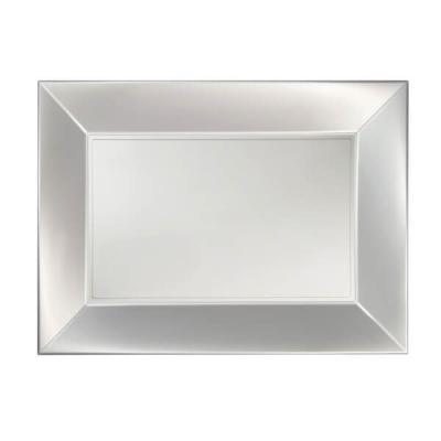 Petite assiette rectangle incassable blanc perlé (x8) REF/58051
