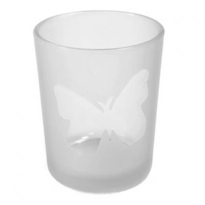 Photophore blanc papillon (x1) REF/VER5004