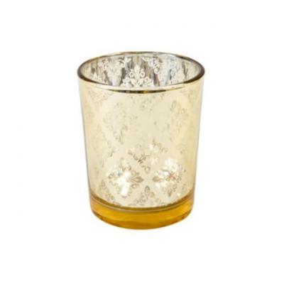 Photophore en verre Mandala or (x1) REF/VER5028