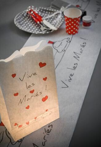 Photophore mariage vive les maries 1