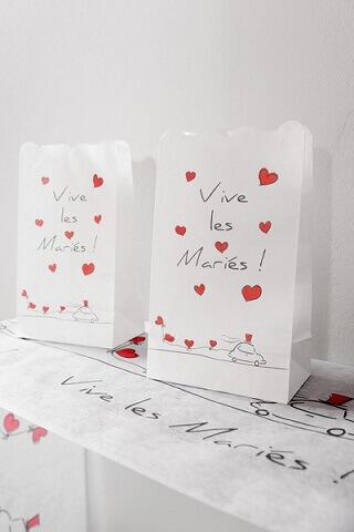 Photophore mariage vive les maries 2
