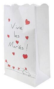 Photophore mariage: Vive les mariés (x6) REF/4263