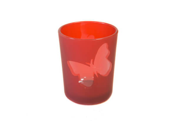 Photophore rouge papillon