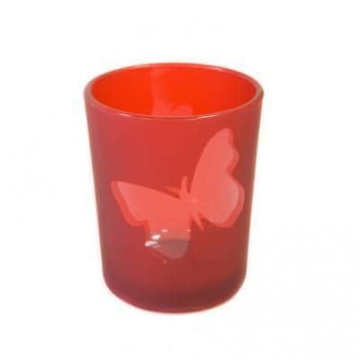 Photophore rouge papillon (x1) REF/VER5004