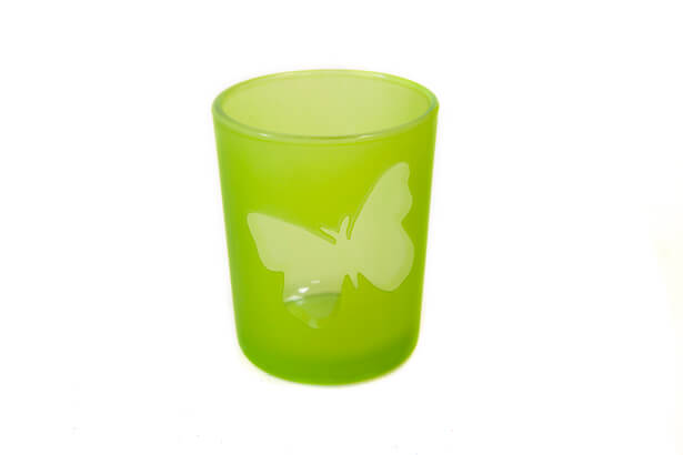 Photophore vert menthe papillon 1