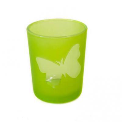 Photophore vert menthe papillon (x1) REF/VER5004