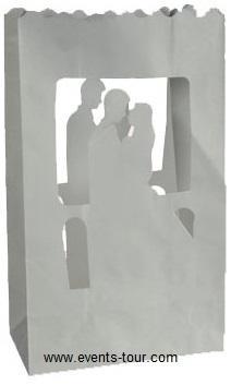 Photophore couple de mariés (x2)