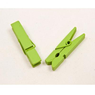 Pince à linge verte en bois (x25) REF/MT888