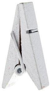 Pince en bois pyramide (x12) REF/3528 - Couleur : Blanc
