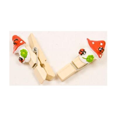 Pince champignon rouge (x6) REF/DEC498