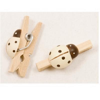 Pince coccinelle ivoire (x12) REF/MT891