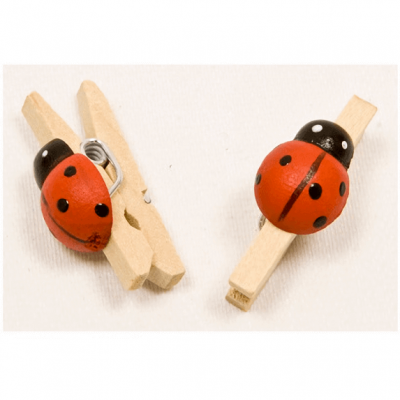 Pince coccinelle rouge (x12) REF/MT898