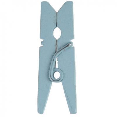 Pince en bois bleu ciel, 3.5cm (x12) REF/2644