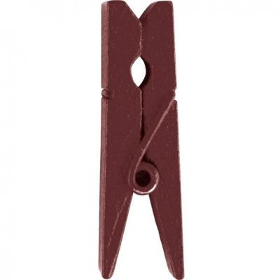 Pince en bois chocolat, 3.5cm (x12) REF/2644