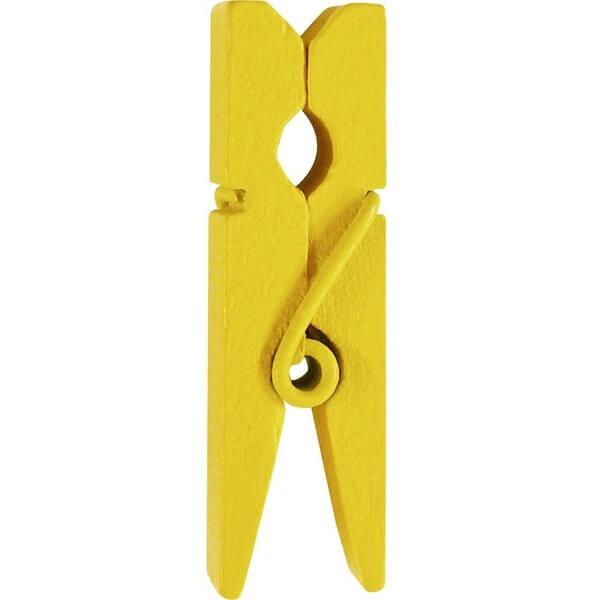 Pince en bois jaune