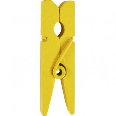 Pince en bois jaune, 3.5cm (x12) REF/2644