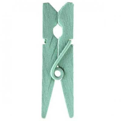 Pince en bois mint, 3.5cm (x12) REF/2644