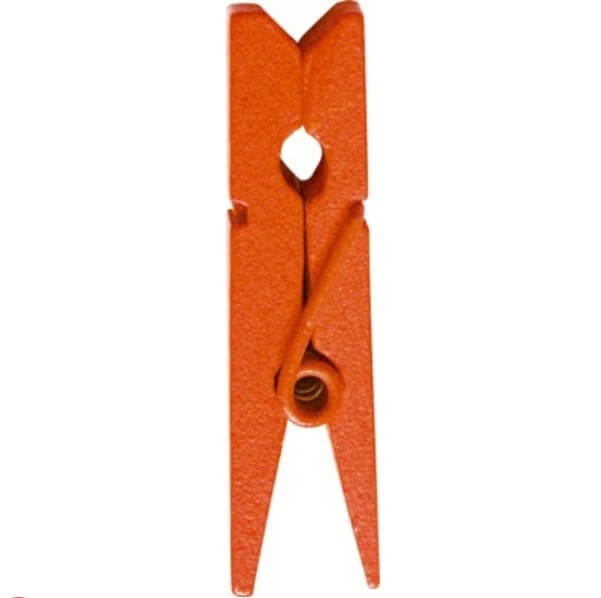 Pince en bois orange