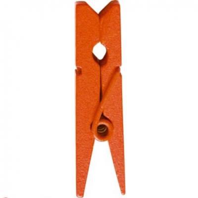 Pince en bois orange, 3.5cm (x12) REF/2644
