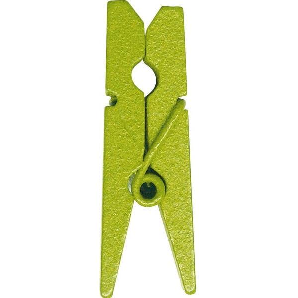 Pince en bois verte