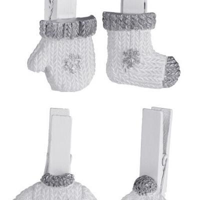 Pince hiver argent (x4) REF/5533